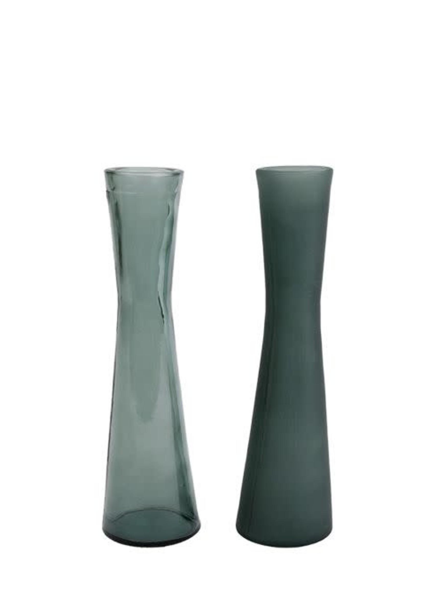 Vaas Florero S mat/helder d.groen a2 glas 5x5x20cm