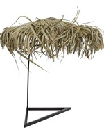 Parasol voor dienblad Ibiza naturel riet 35x35x40cm