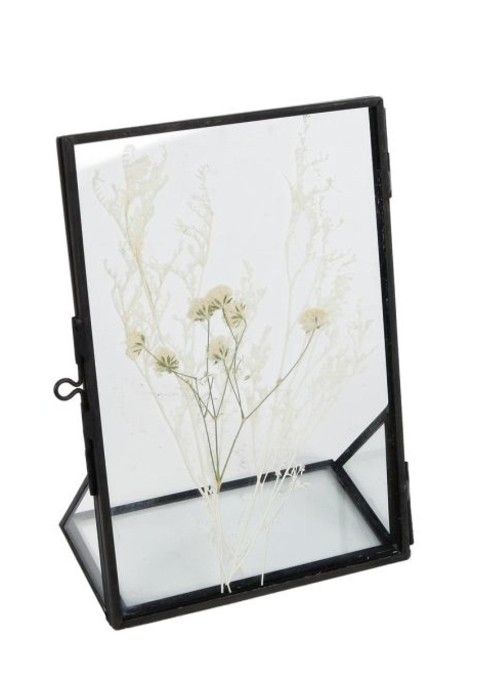 Fotolijst droogbloemen S zwart  metaal 11x16x6cm