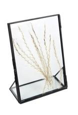 Fotolijst droogbloemen L zwart  metaal 13x18x6cm