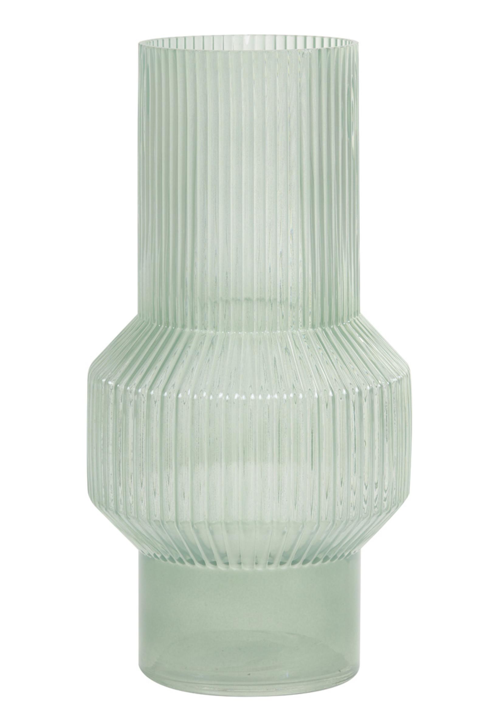 Light & Living Vaas Ø19x35 cm LEILA glas grijs groen