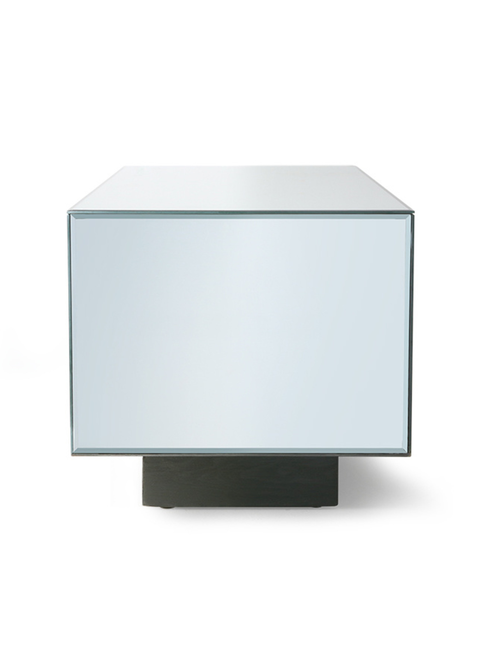 HK living Mirror block table clear M