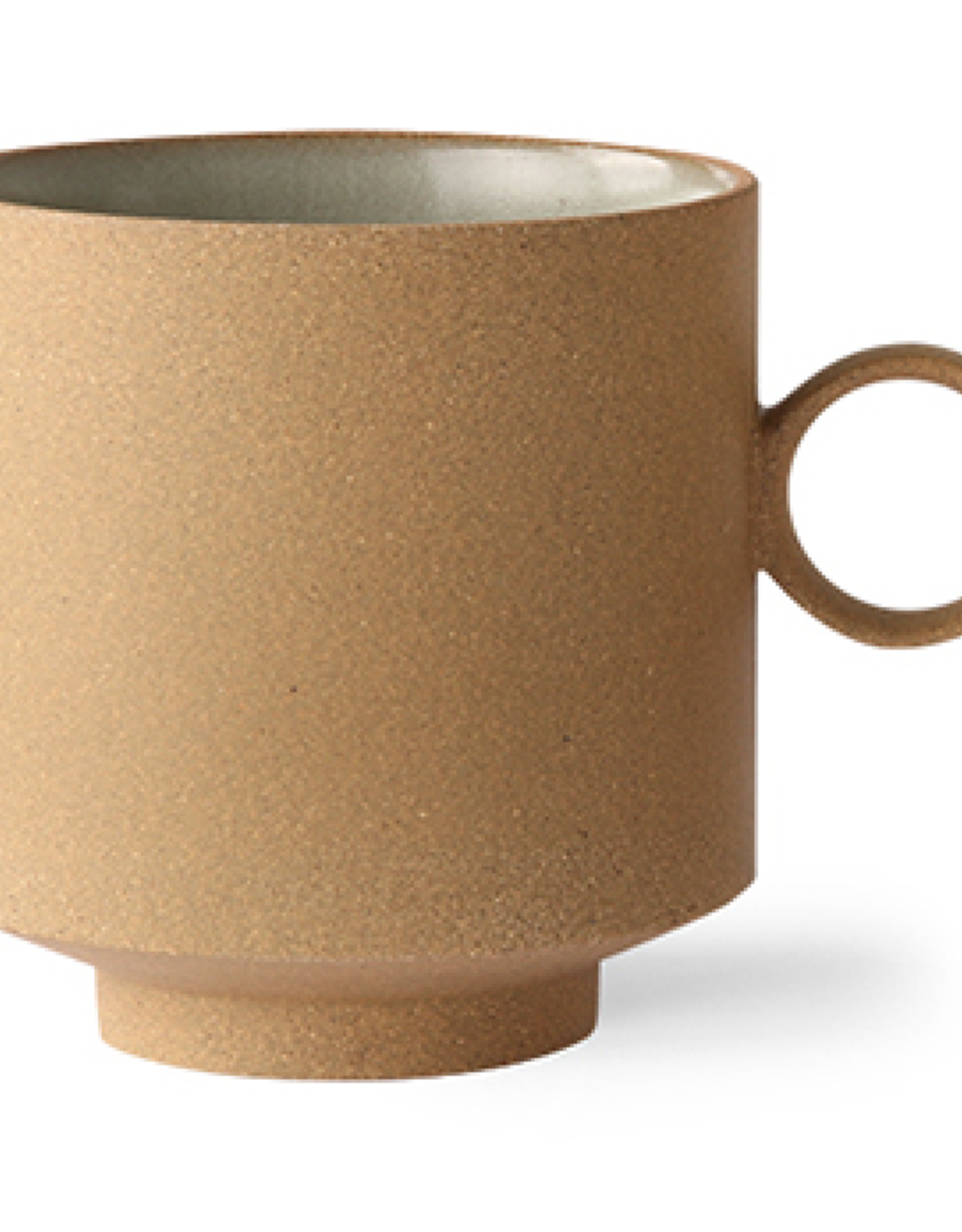 HK living Bold &Basic ceramics: coffee mug ochre