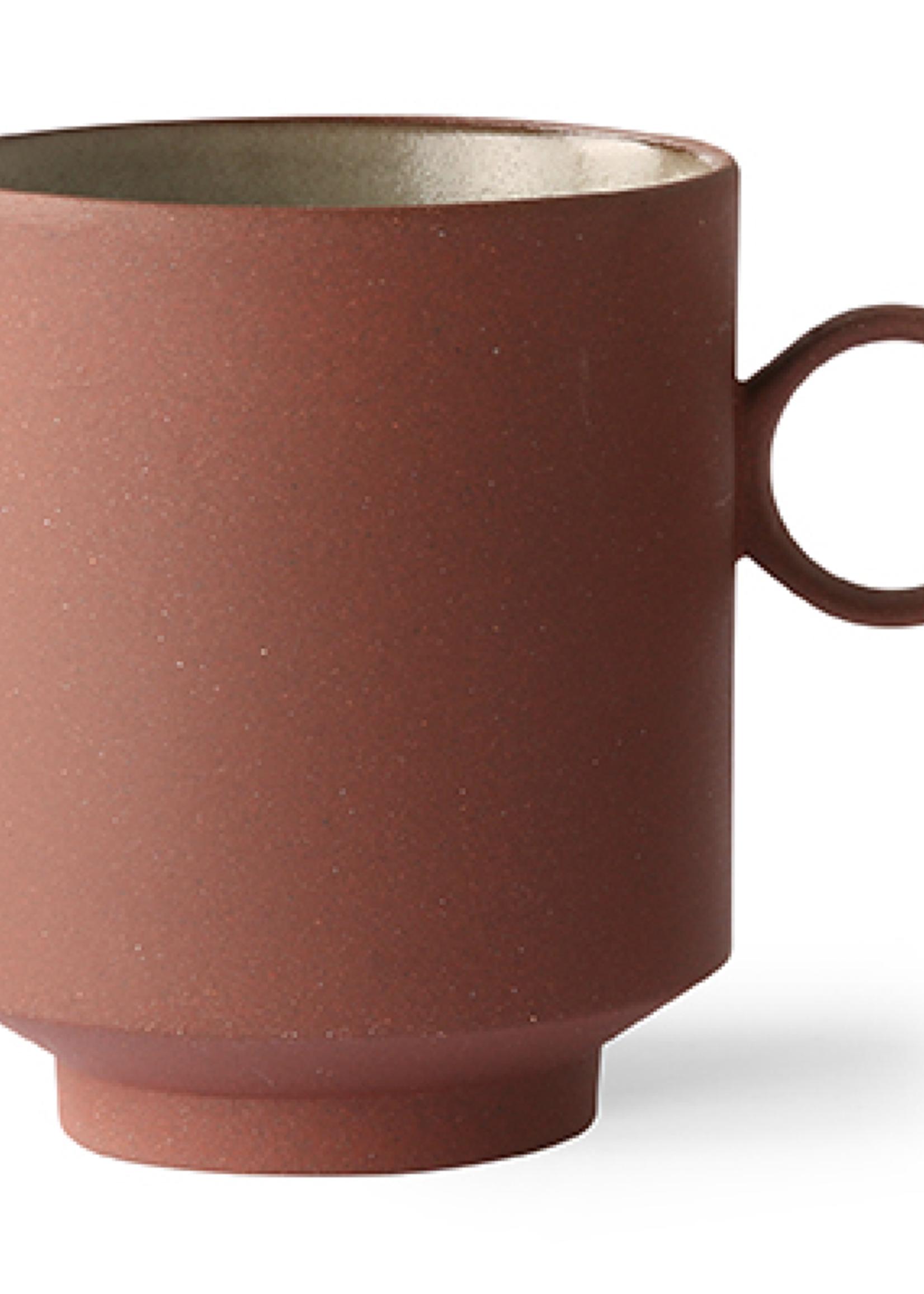HK living Bold &Basic ceramics: coffee mug terra
