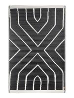 Zusss Buitenkleed grafisch patroon 120x180cm zwart