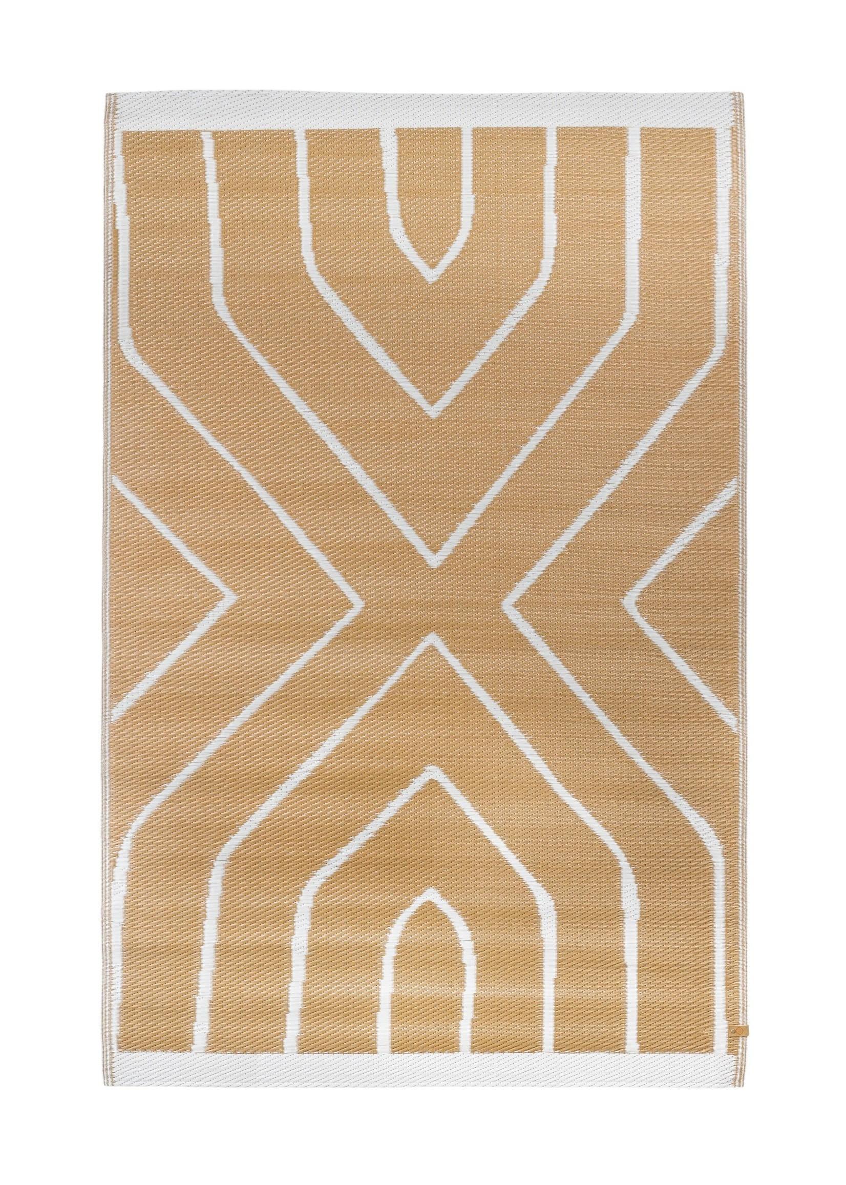 Zusss Buitenkleed grafisch patroon 120x180cm kaki