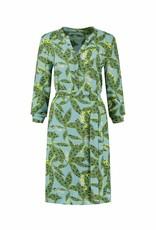 Pom Amsterdam Dress Cheetah leaves blue