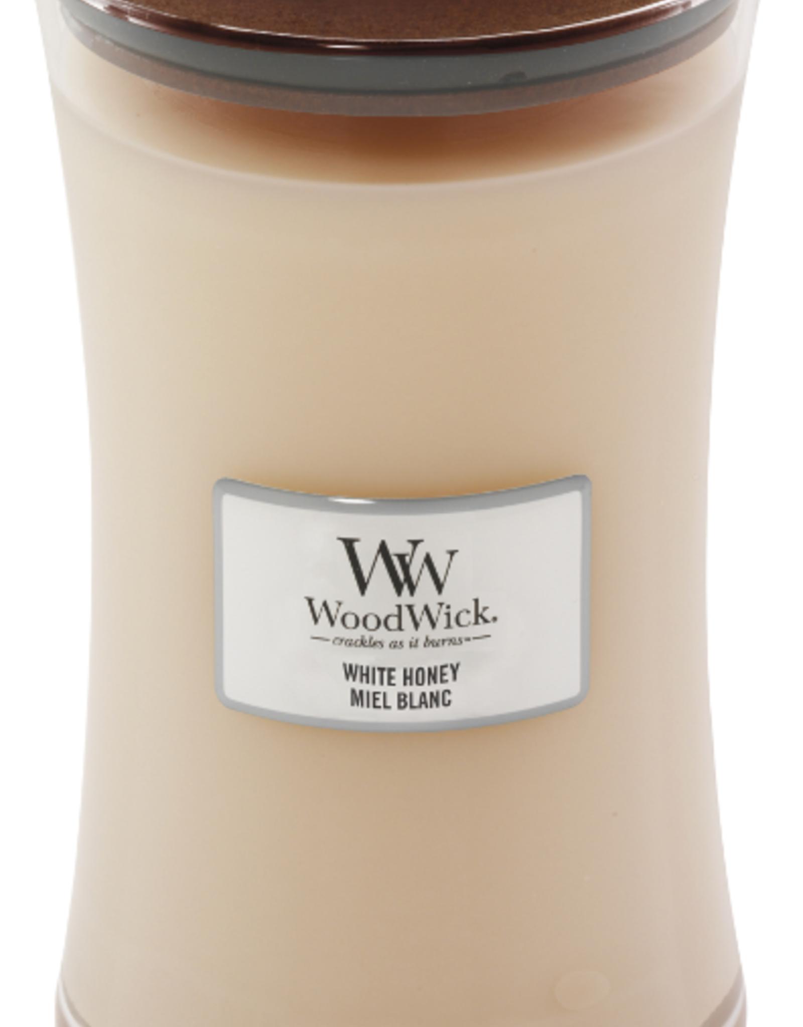 Woodwick WW white honey large candle