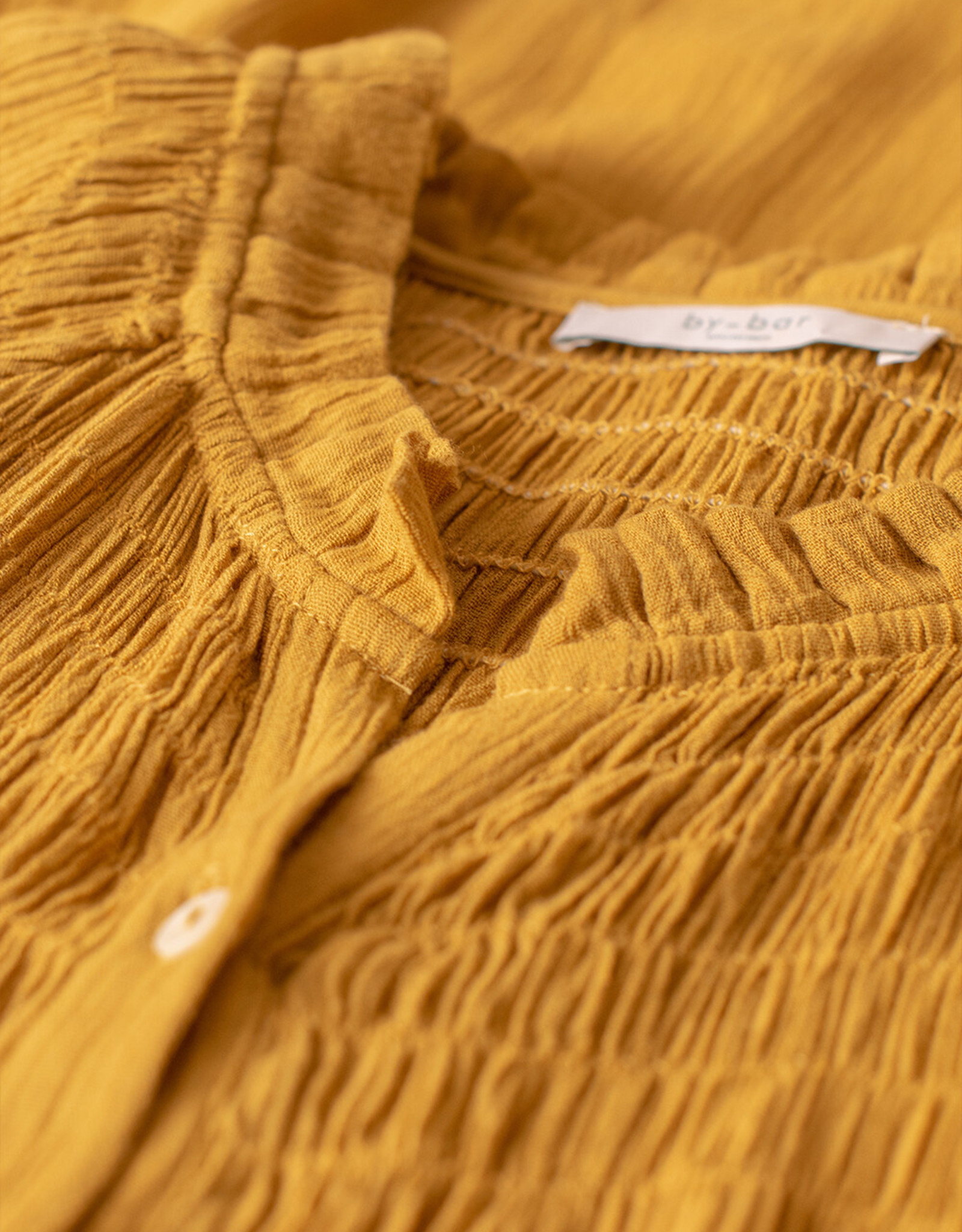 By Bar Amsterdam Loulou smocked dress harvest