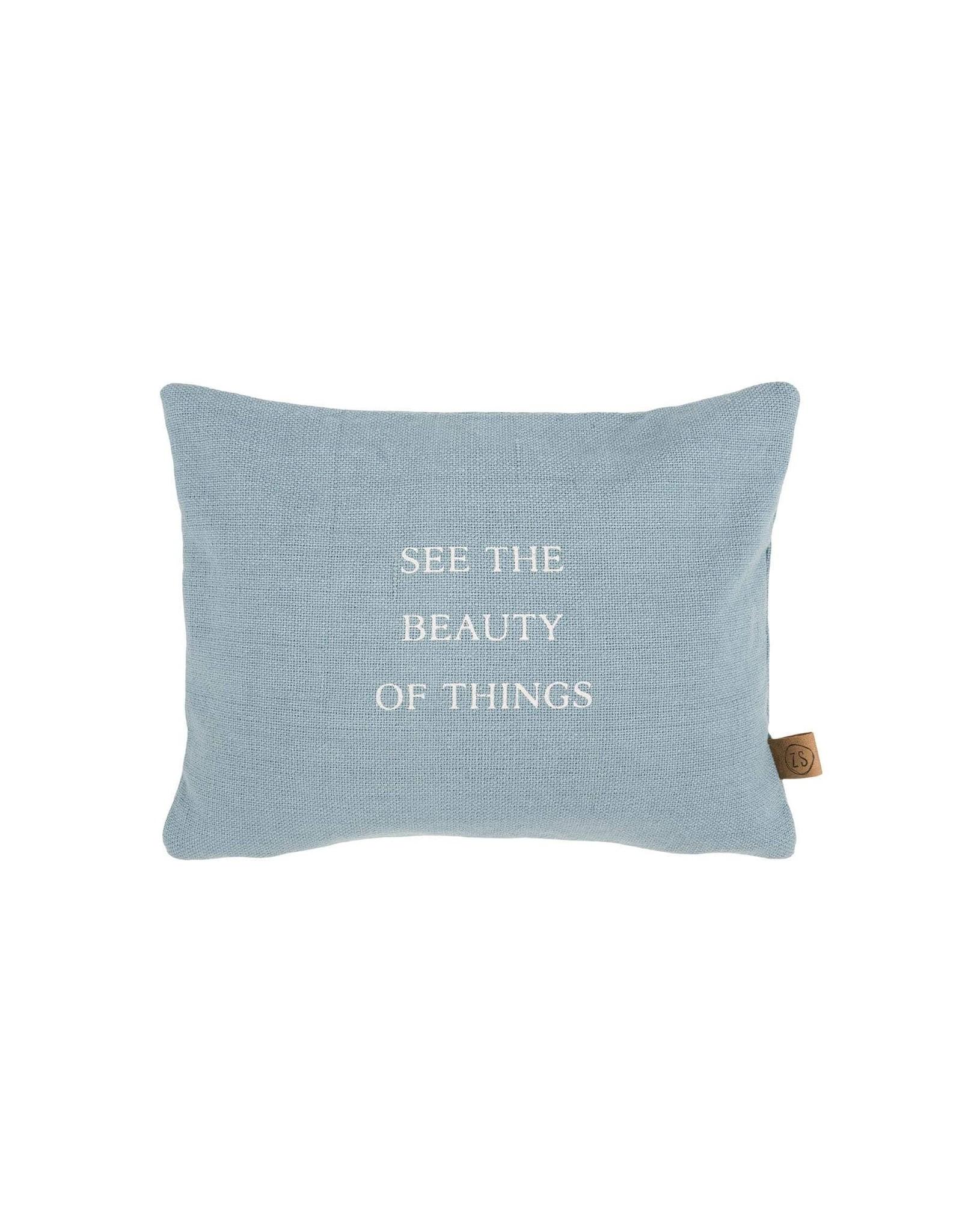 Zusss Kussen Beautiful things blauw