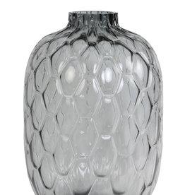 Light & Living Vaas dia34x50 cm carino glas grijs