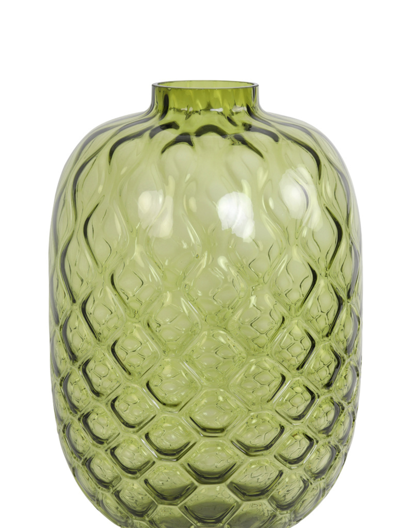 Light & Living Vaas dia29x42 cm carino glas olijf groen
