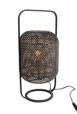Tafellamp Monica XL zwart metaal 28x26x58