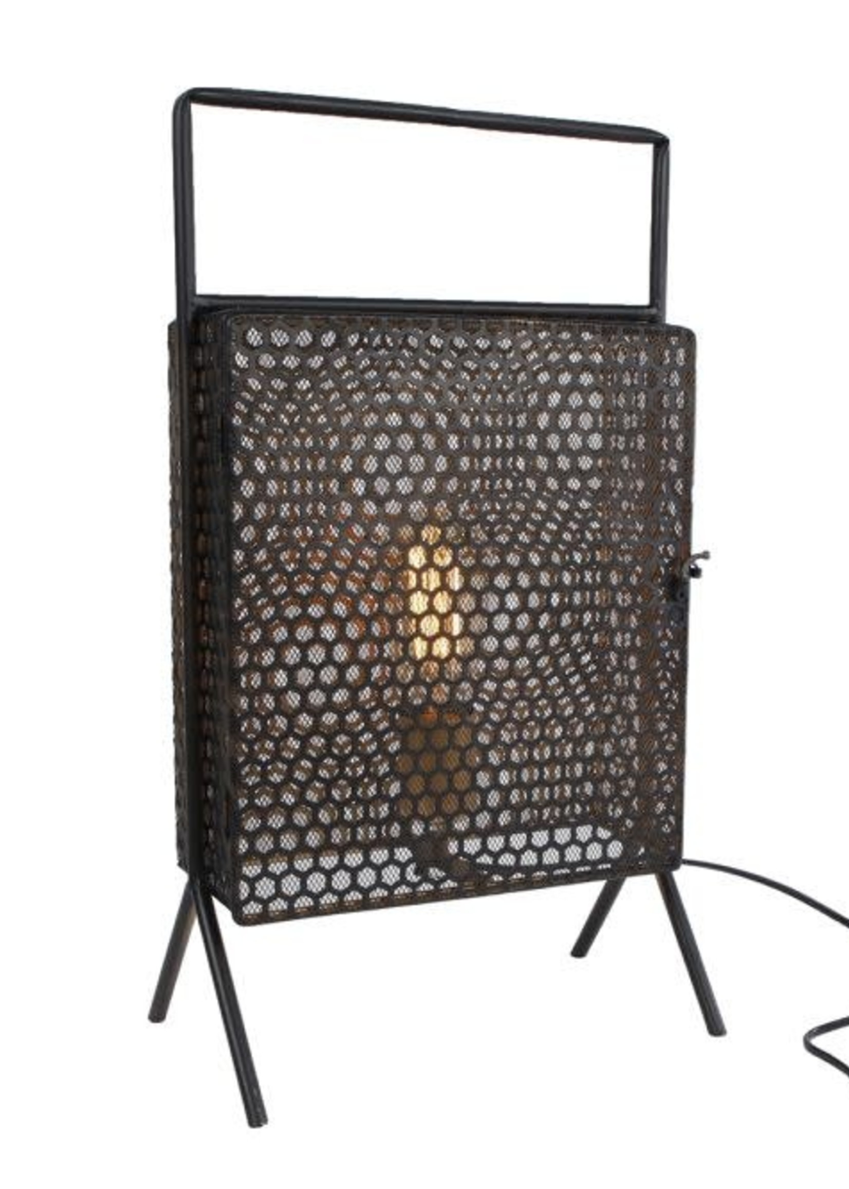 Tafellamp Leaf zwart metaal 28x18x50