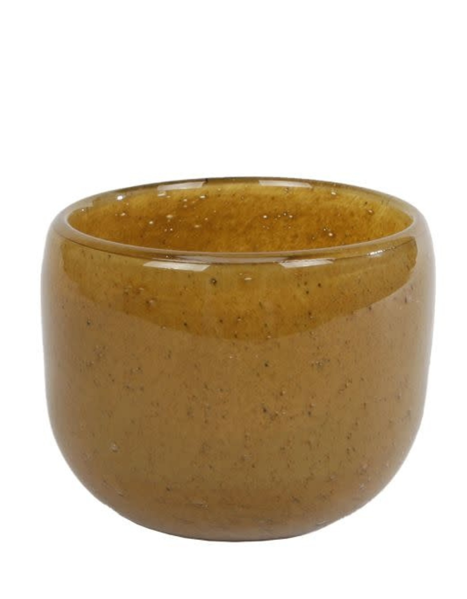 Theelicht Brenda amber glas 9x9x7