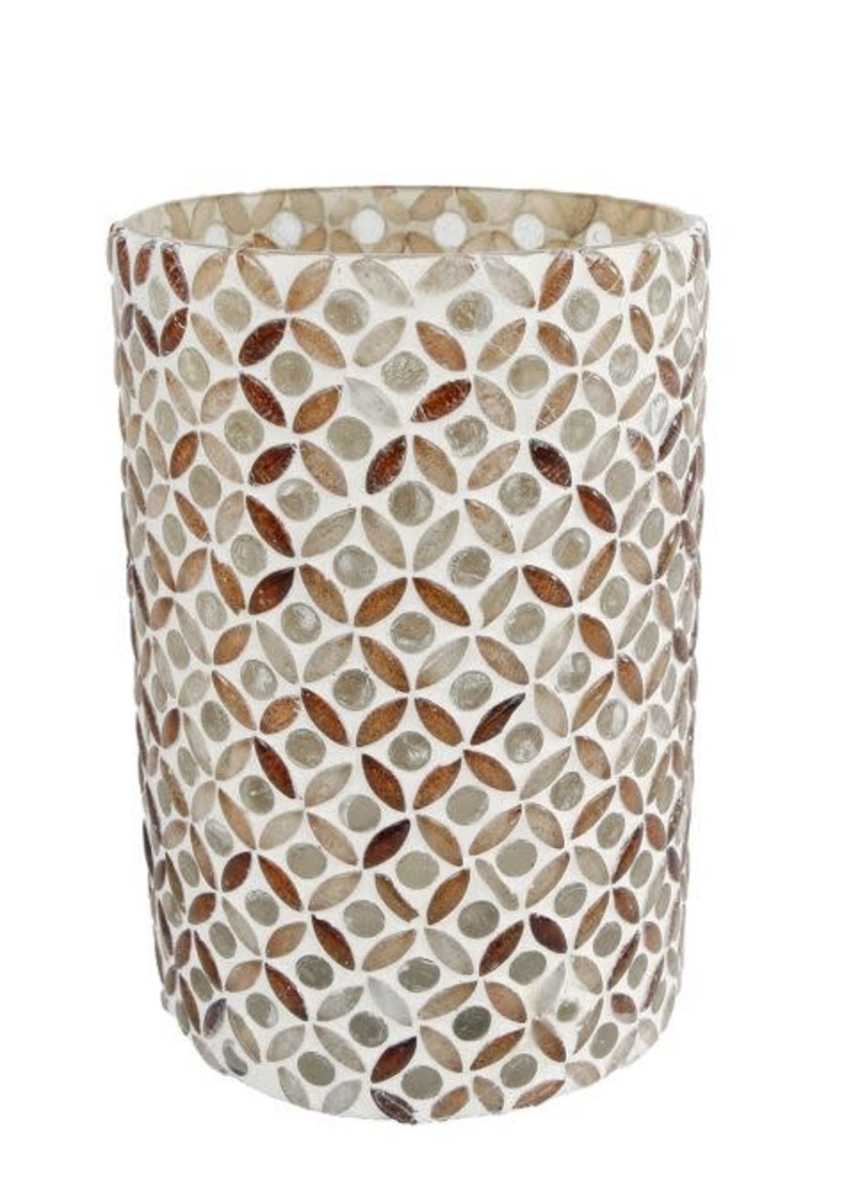 Theelicht Mosaic S glas 12x10x10