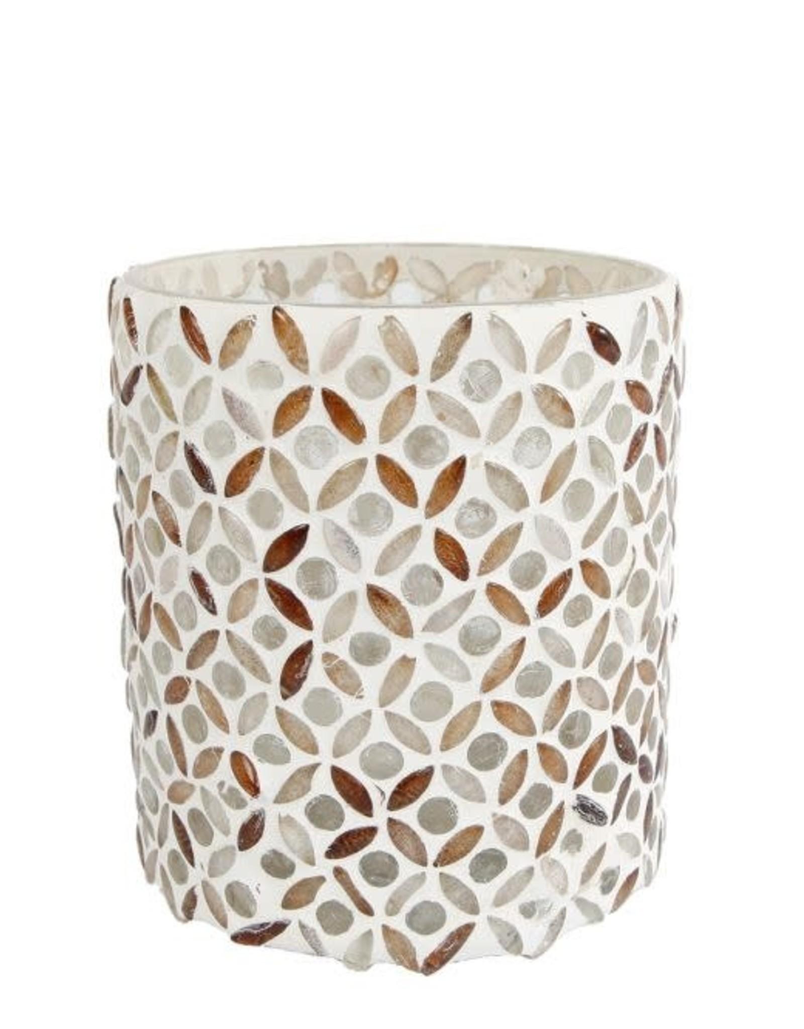Theelicht Mosaic L glas 14x10x10