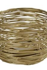 Theelicht Hendrika L goud metaal 10x10x10