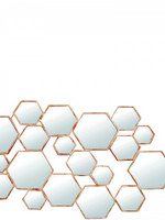 Lifestyle Divided mirror hexagon gold large