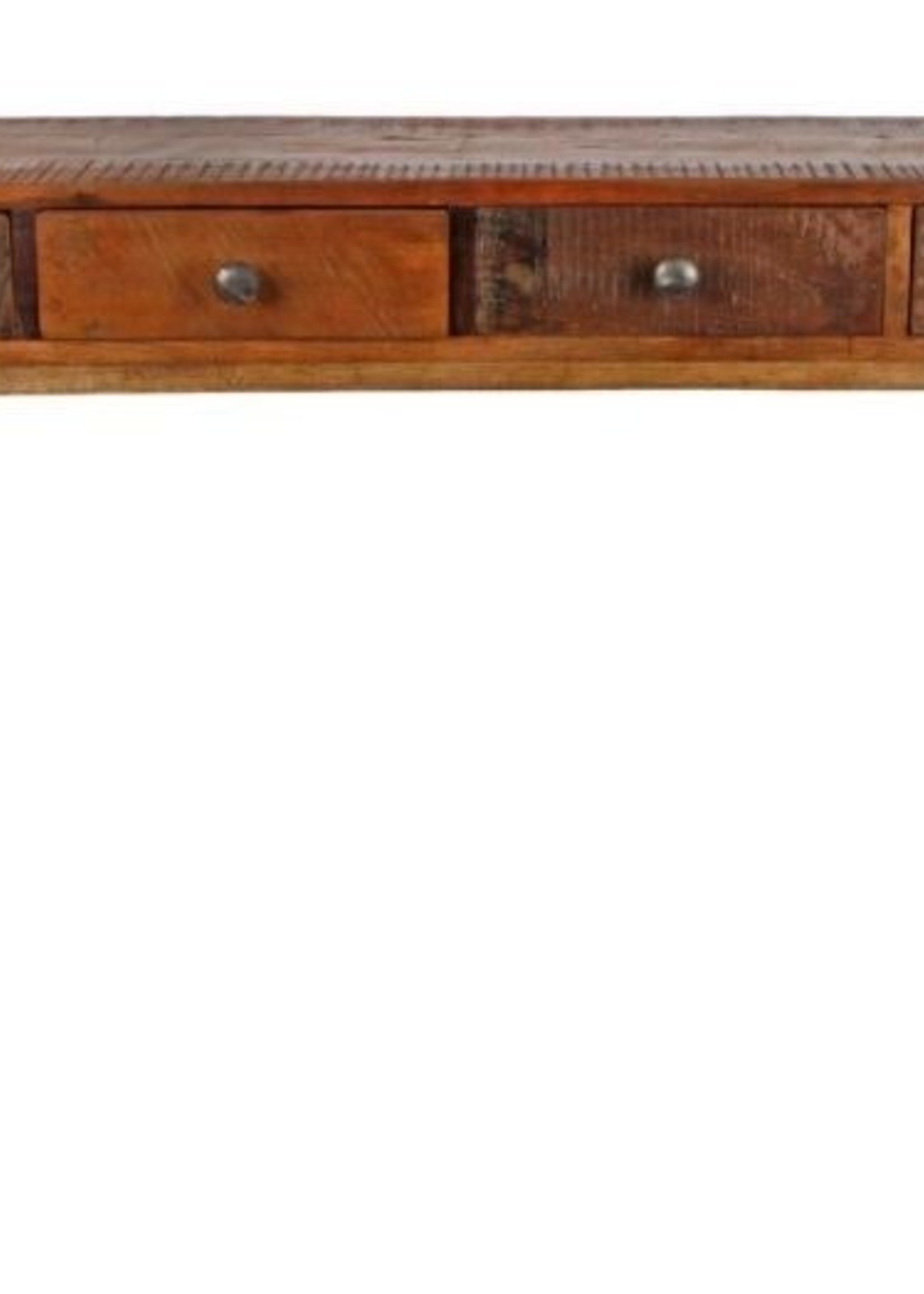 Side table naturel hout 110x30x46cm