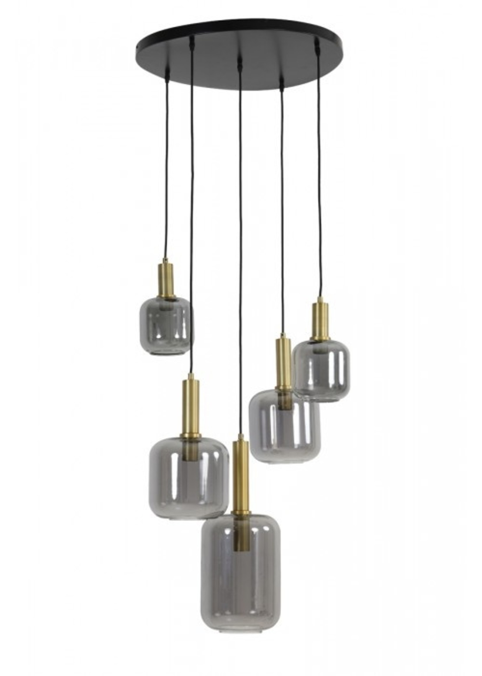 Light & Living Hanglamp 5L 66x80 LEKAR antiek brons