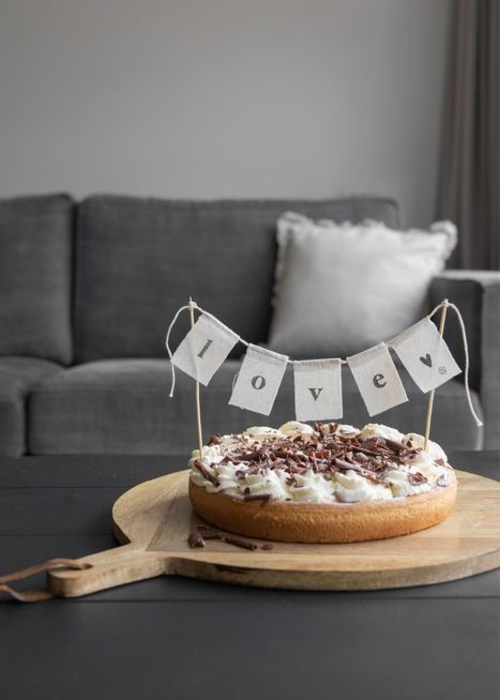 Zusss Katoenen taartslinger Love 60 cm