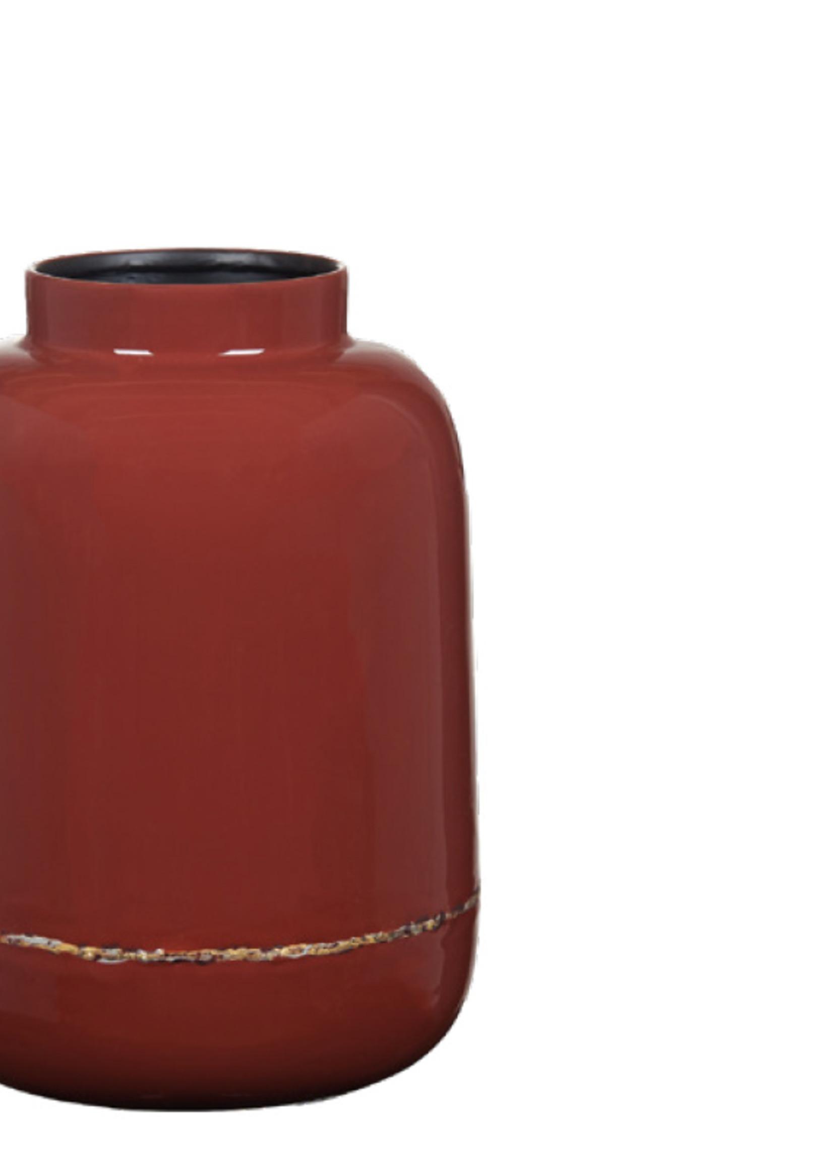 Lifestyle Maiya vase earth red M