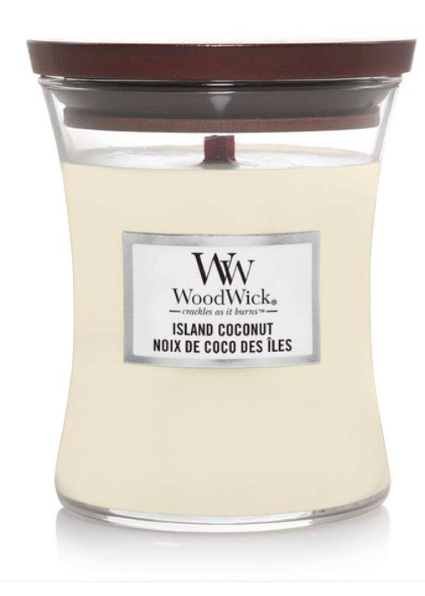 Woodwick Woodwick Island coconut medium candle