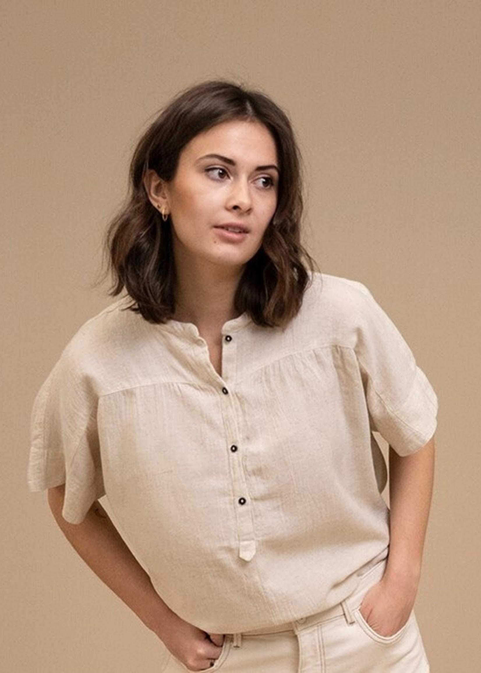 By Bar Amsterdam Bo slub blouse