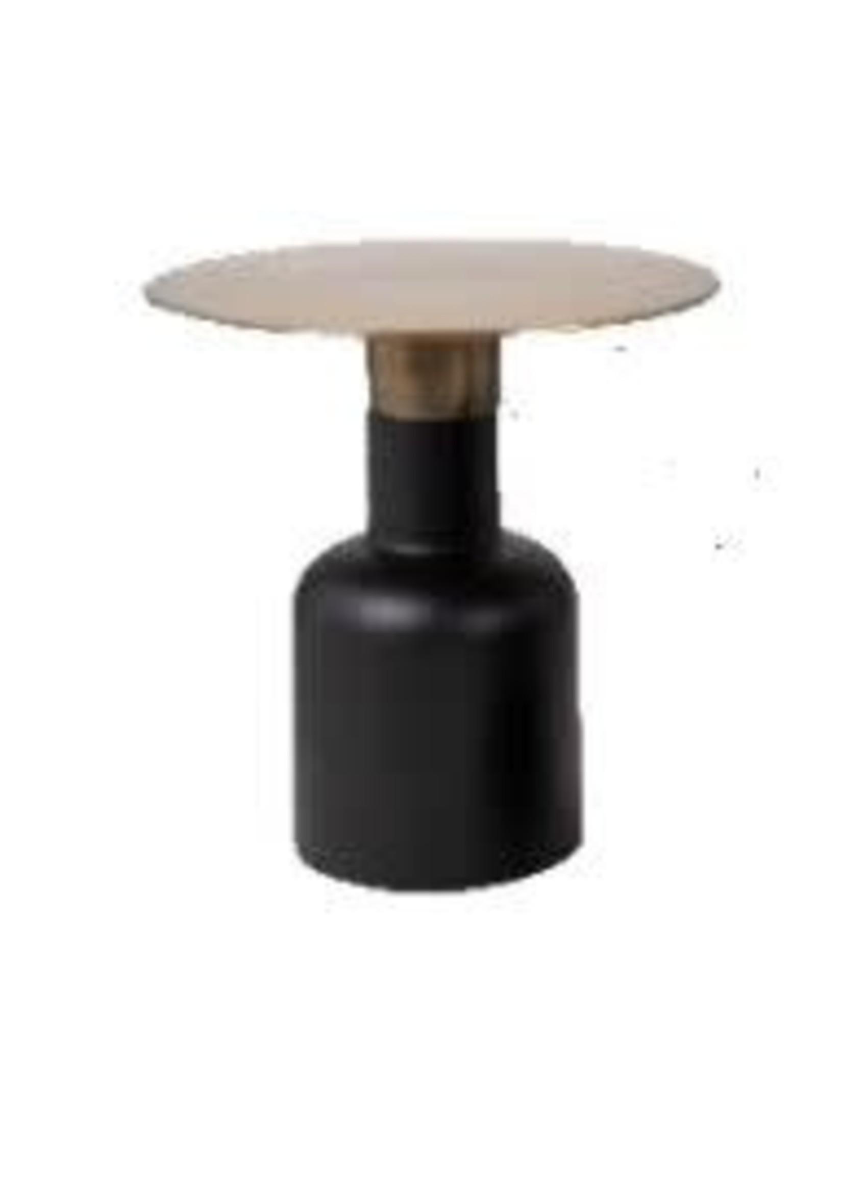 Moods Collection Ronde tafel antique goud&mat zwart alu 45x45x45