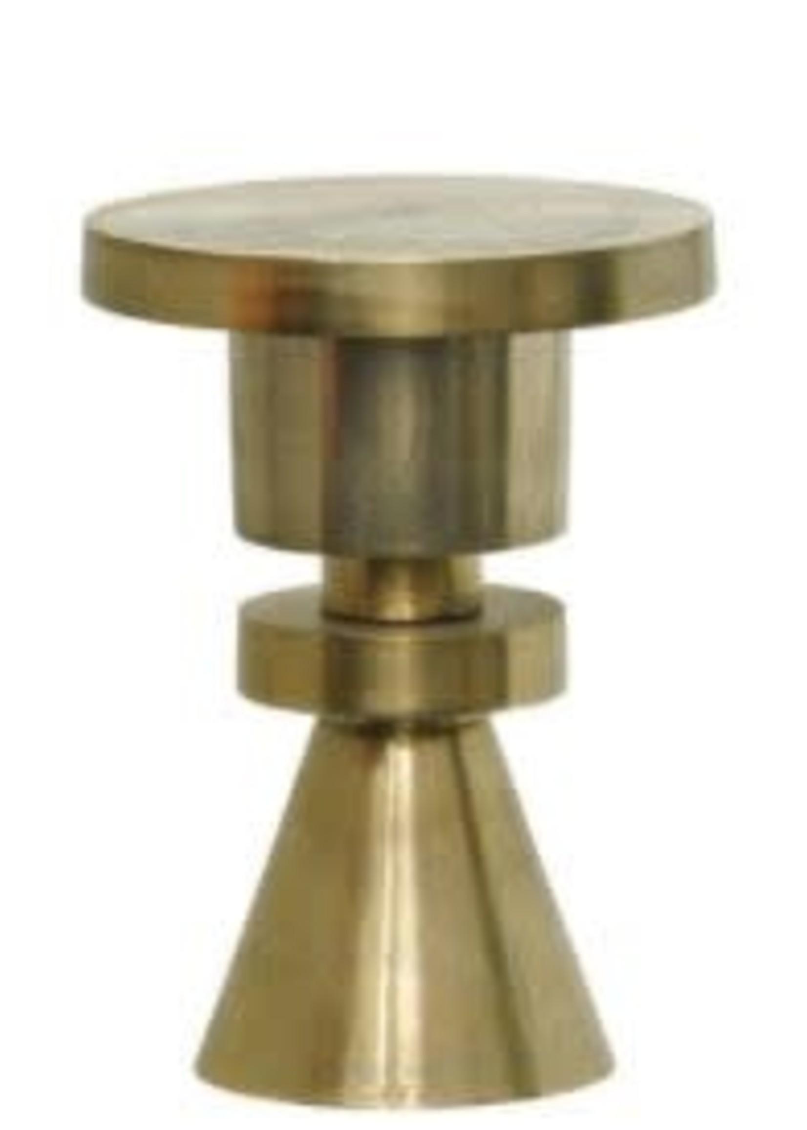 Moods Collection Bijzettafel antique goud alu 35x45