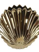 """Vaas """"Palmleave"""" L goud aardew 20x12x21cm"""