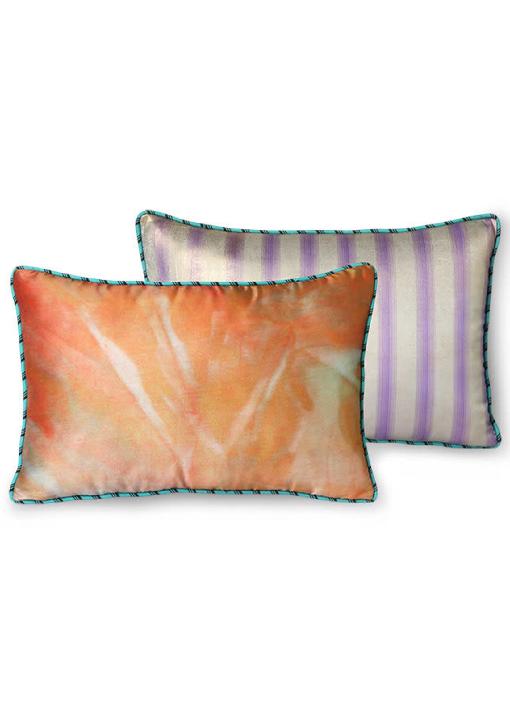 HK living Doris for HKliving: printed satin cushion glitter