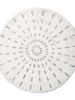 HK living Round bath mat swirl 120cm