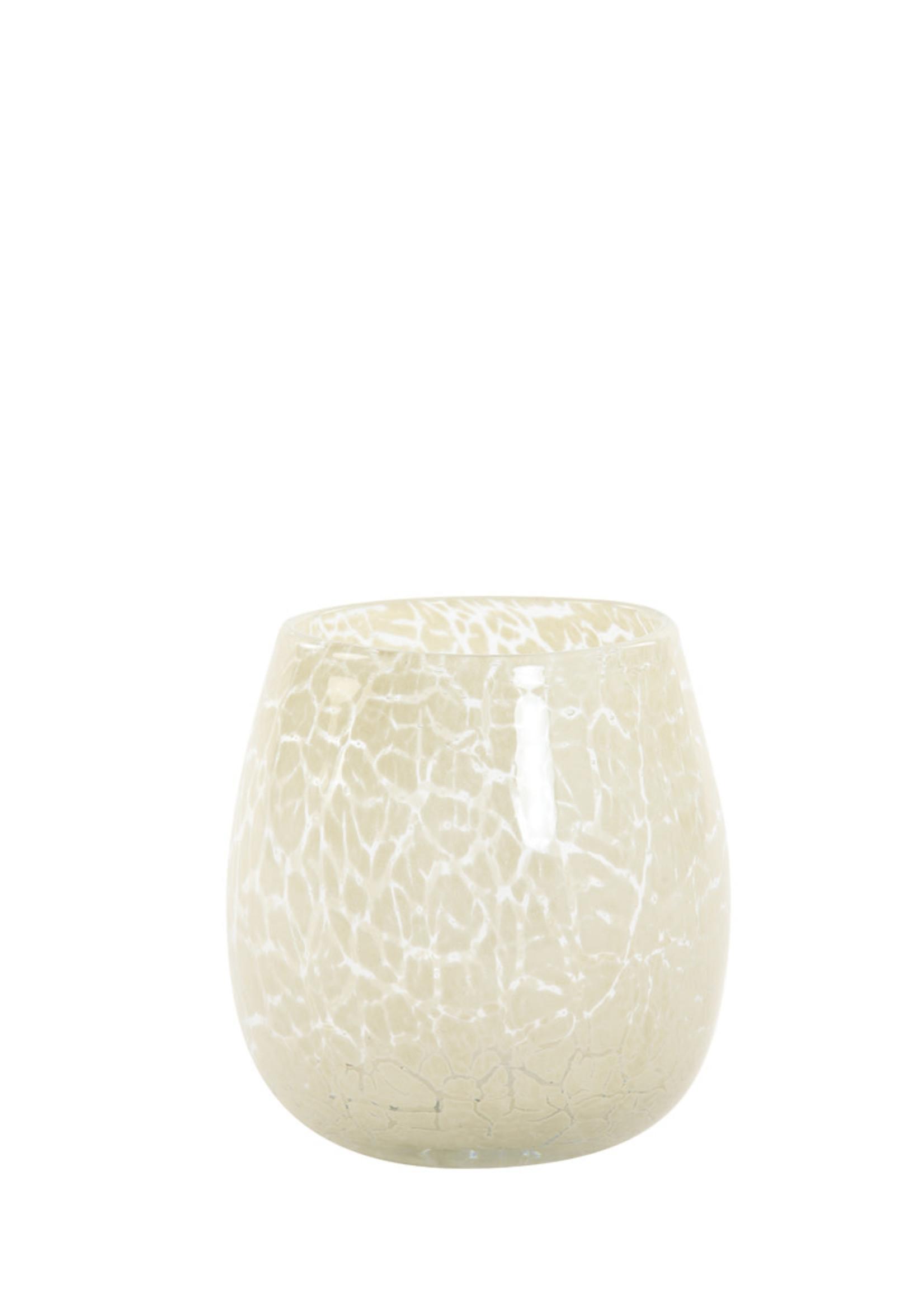Light & Living Theelicht Ø13x14 cm SYLAS glas beige