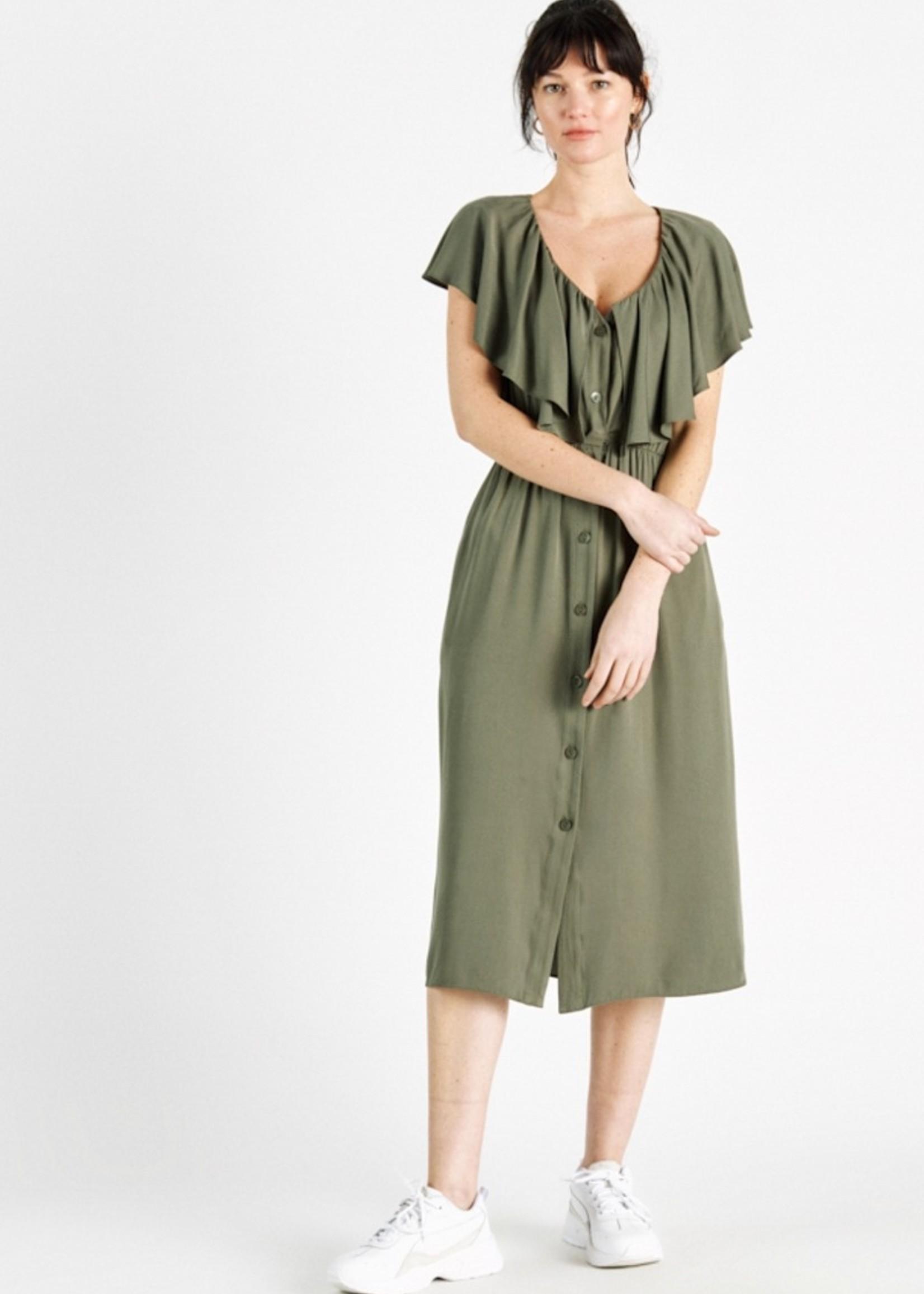 Sweewe Sweewe jurk groen 57032