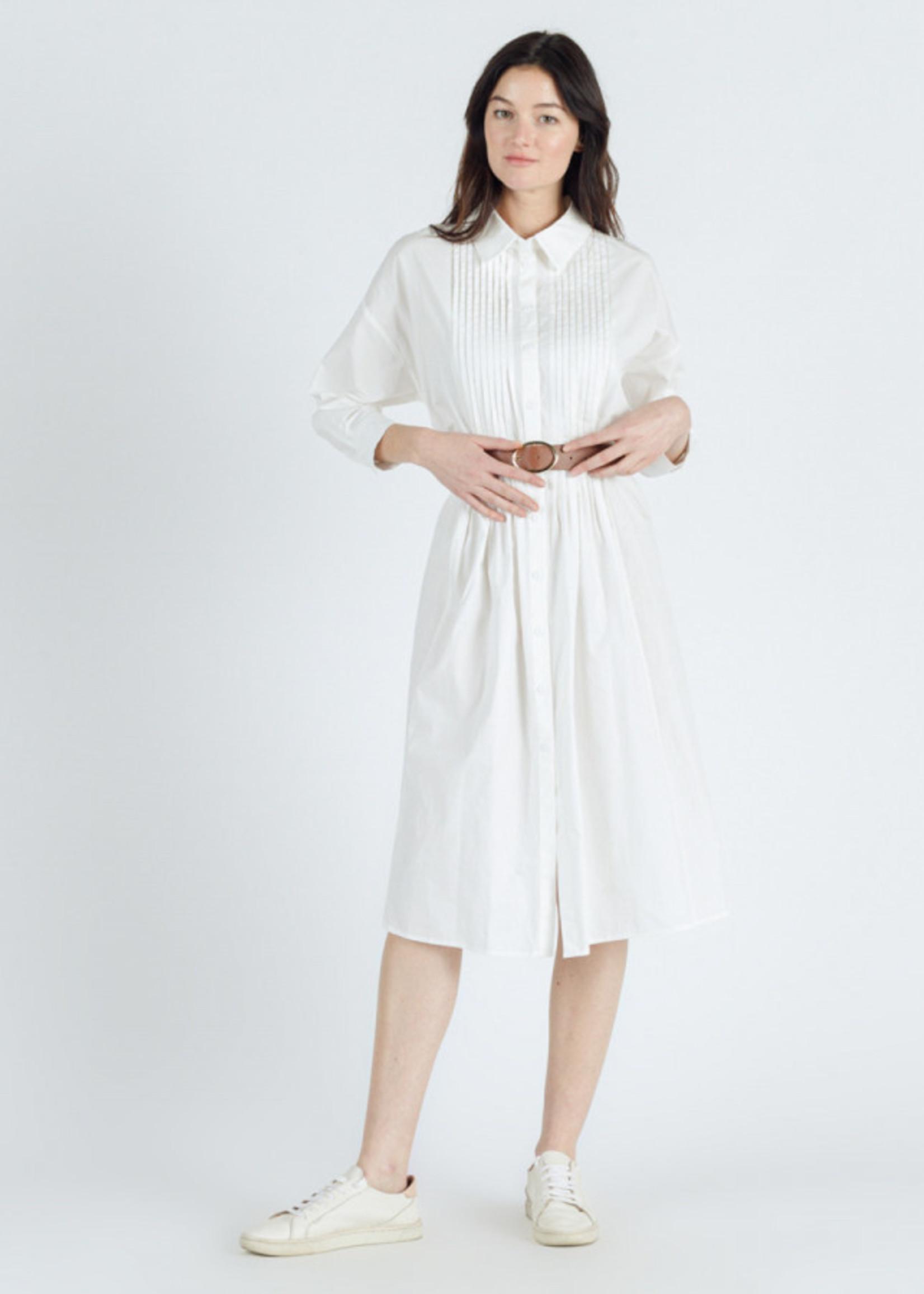 Sweewe Sweewe jurk wit met riem 57004