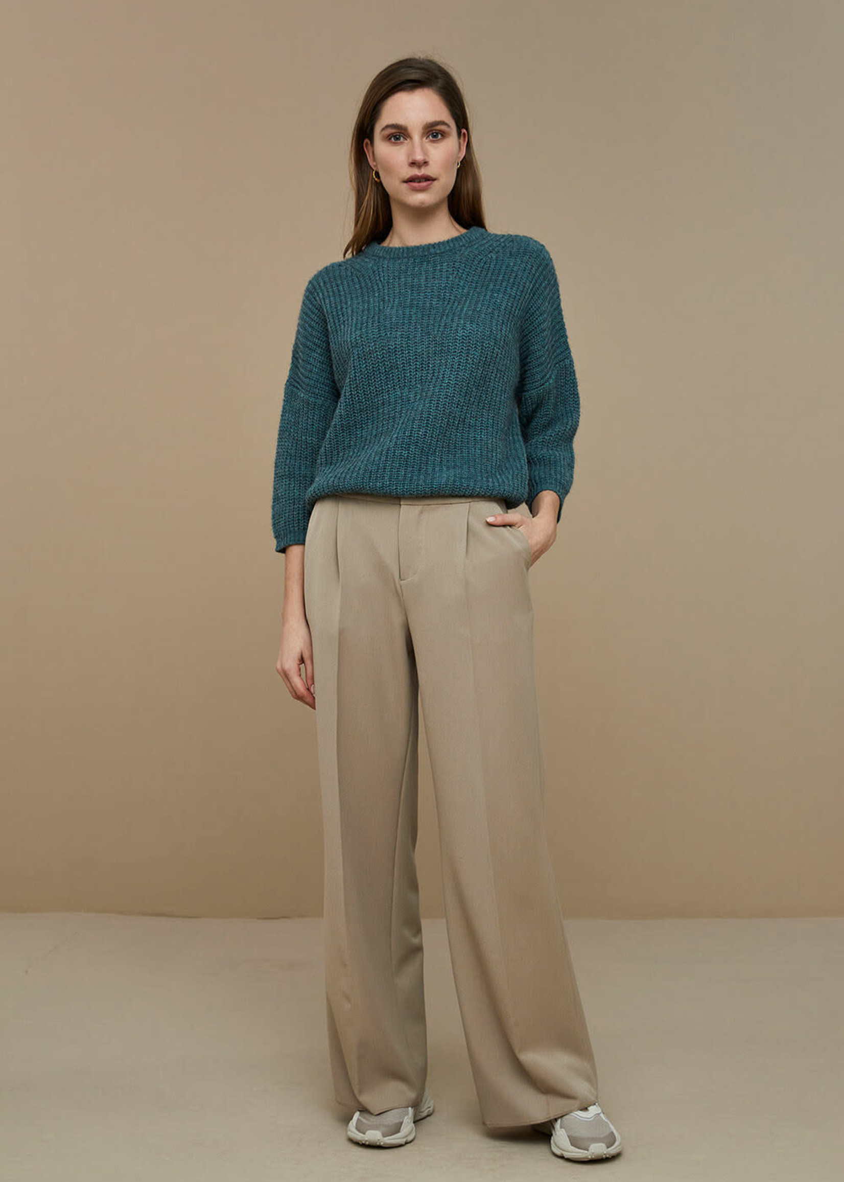 By Bar Amsterdam Milou susi pullover - Deep Sage
