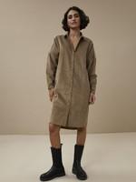 By Bar Amsterdam Cord dress - Dry-khaki