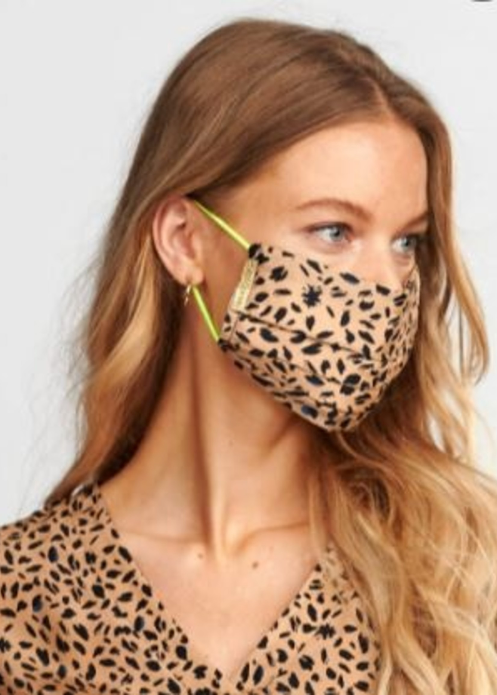 Pom Amsterdam Facemask leopard sand