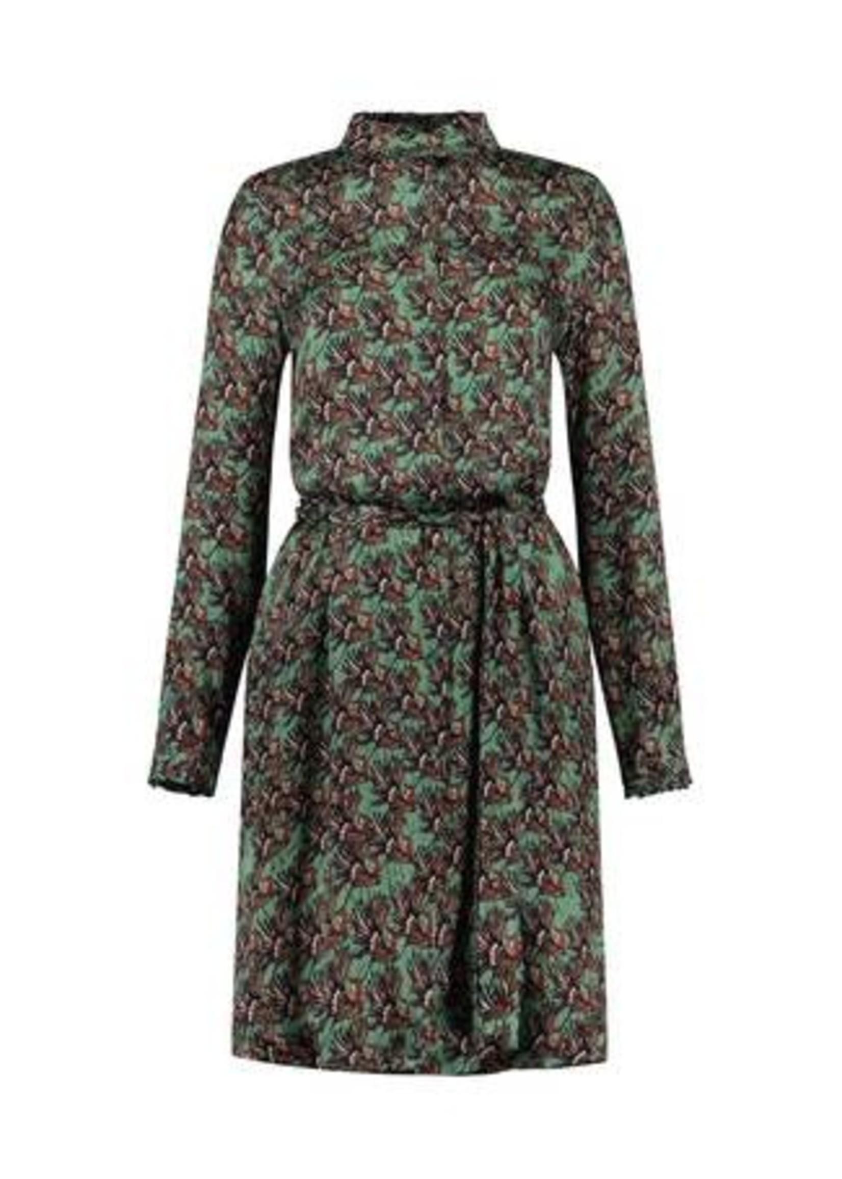 Pom Amsterdam Dress - Paradise Birds Green