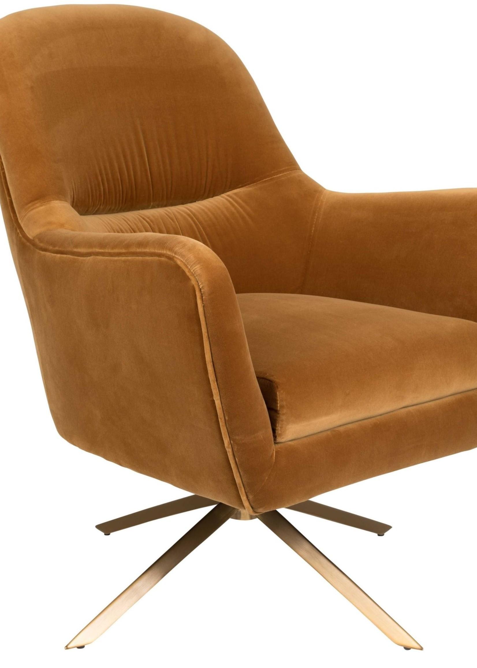 Dutchbone Lounge chair Robusto caramel