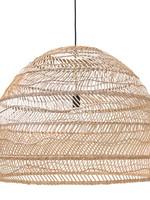HK living Wicker pendant lamp ball natural maat L
