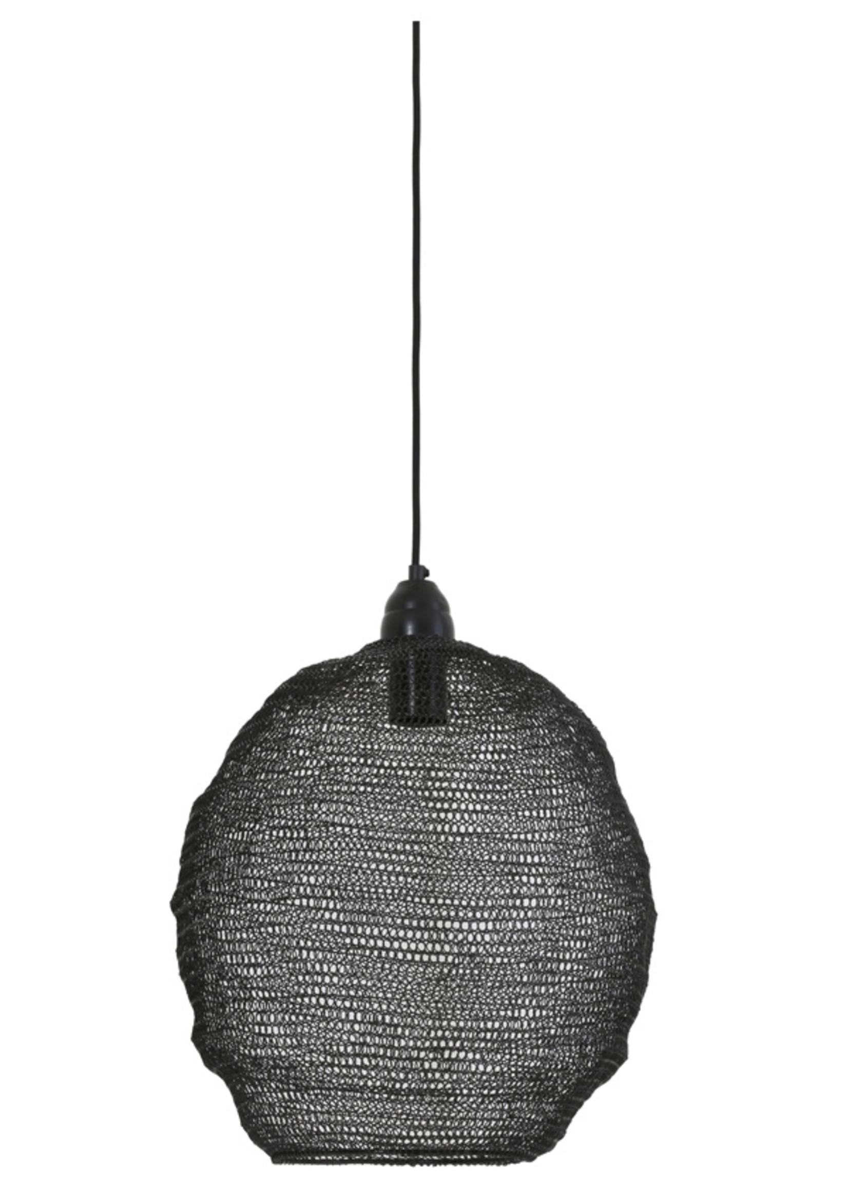 Light & Living Hanglamp 38x42cm NINA zwart