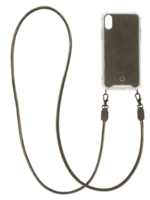Zusss Telefoonhoesje met koord Iphone X snake grijs