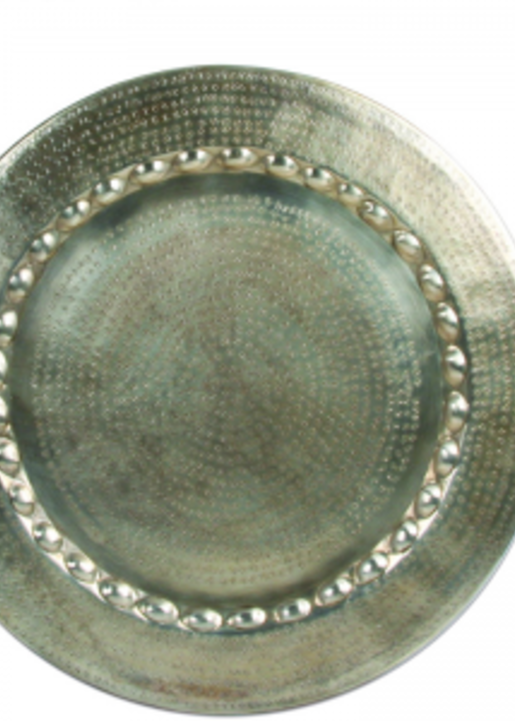 Lifestyle Marrakech Plate Round Silver L