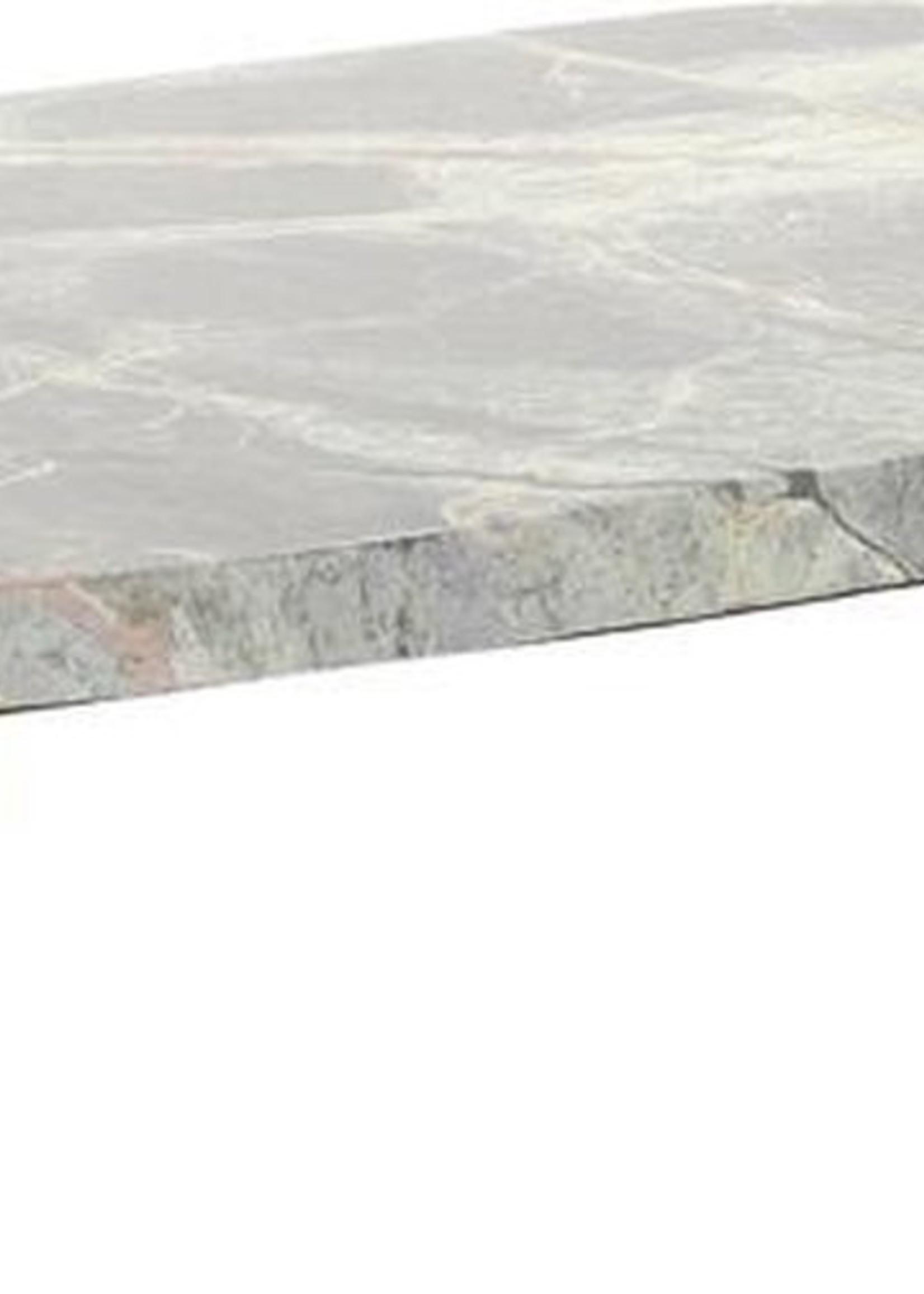 Light & Living Plateau op voet S/2 37x22x8+52x32x13 cm BESILA marmer bruin