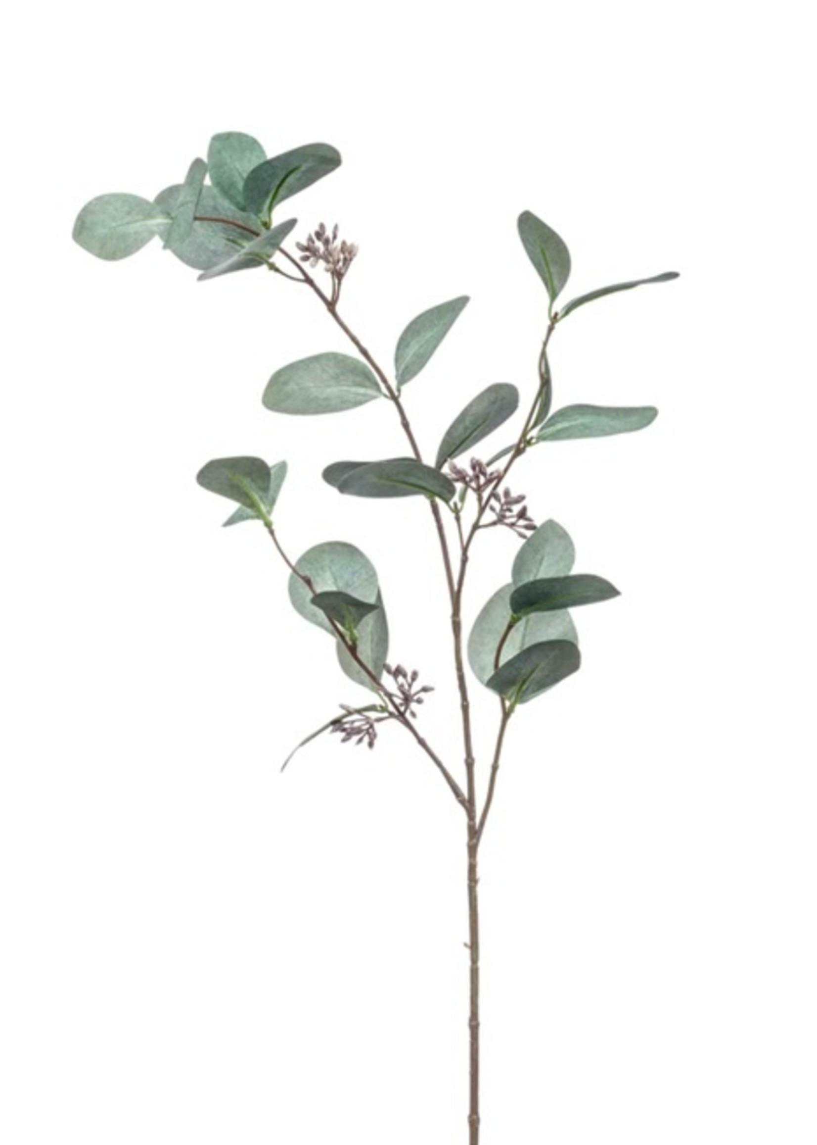 Emerald Eternal Green Eucalyptus spray grey 73cm