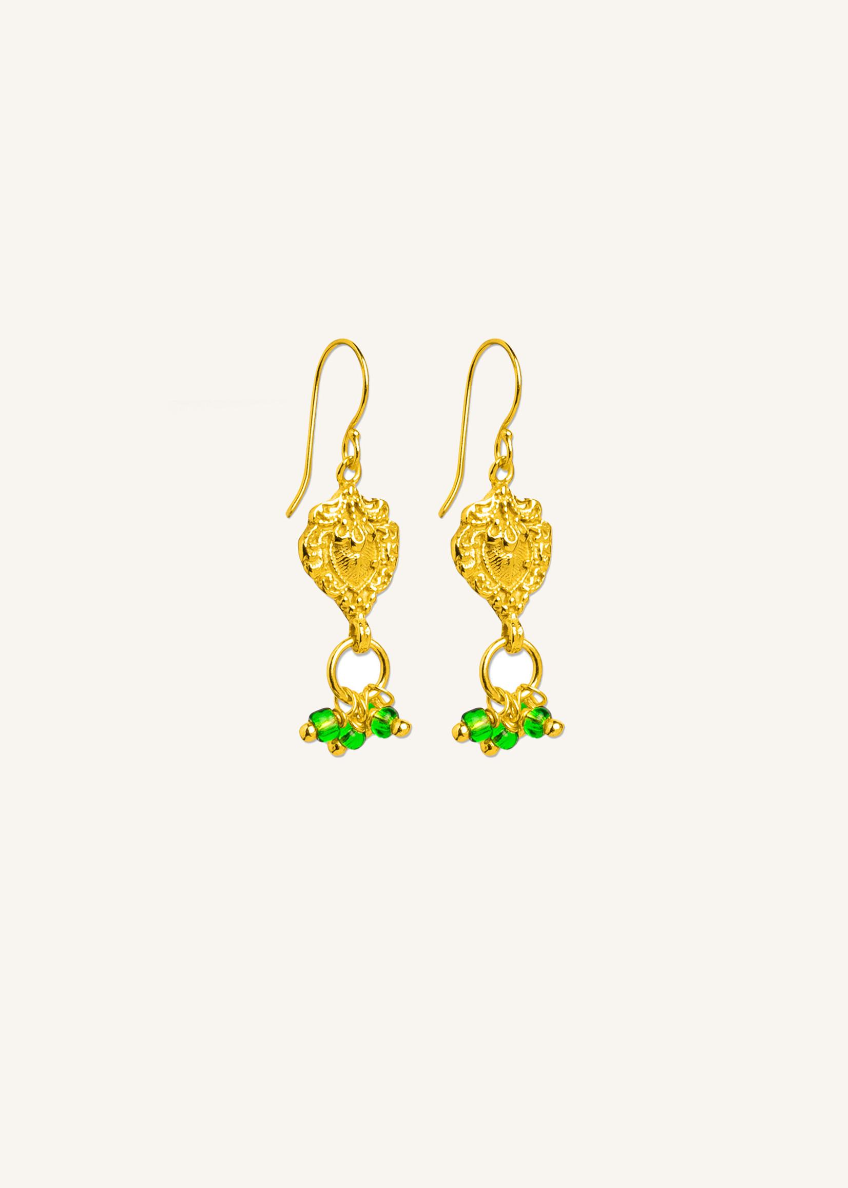 By Bar Amsterdam PD Jolie earring green