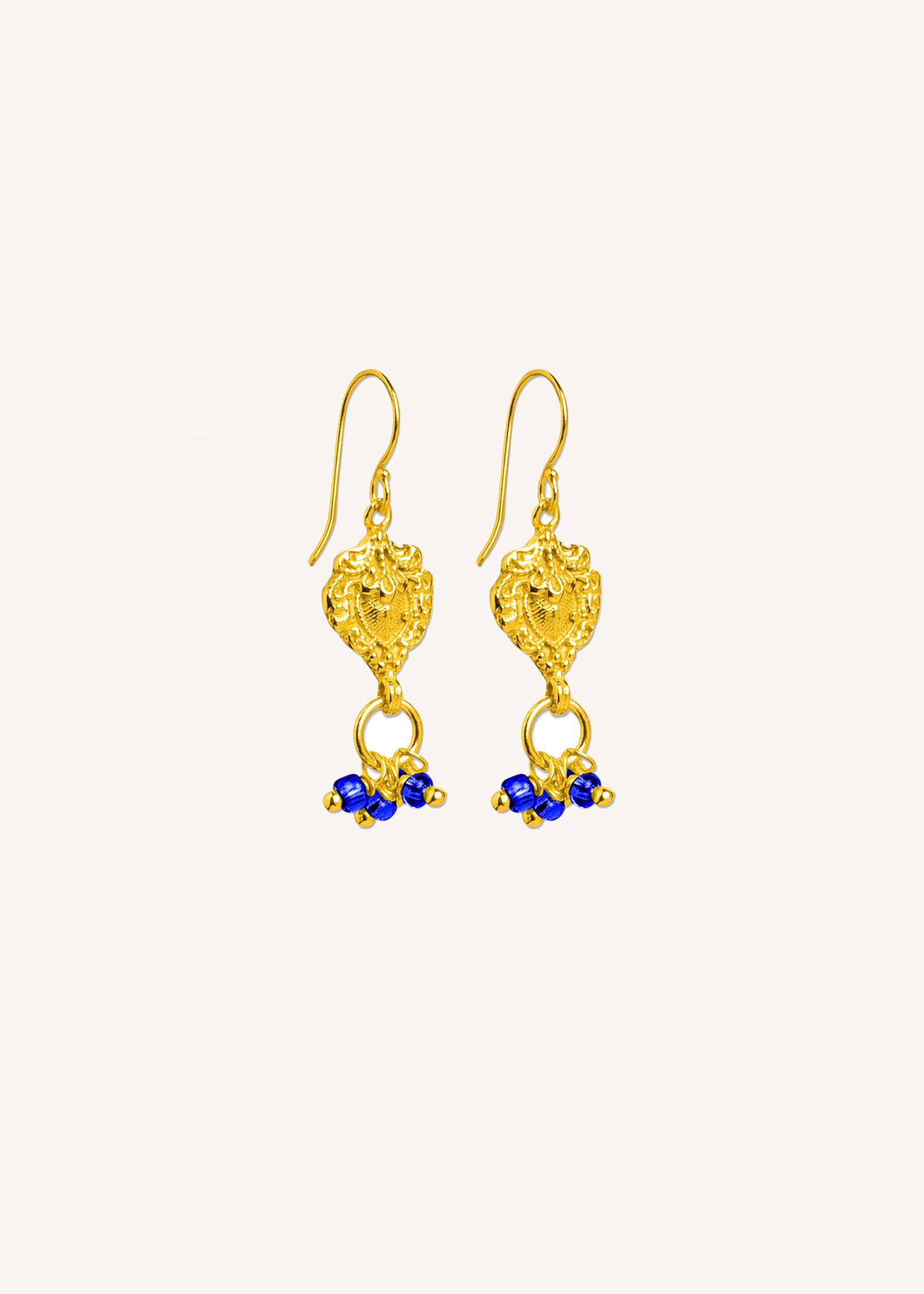 By Bar Amsterdam PD Jolie earring blue